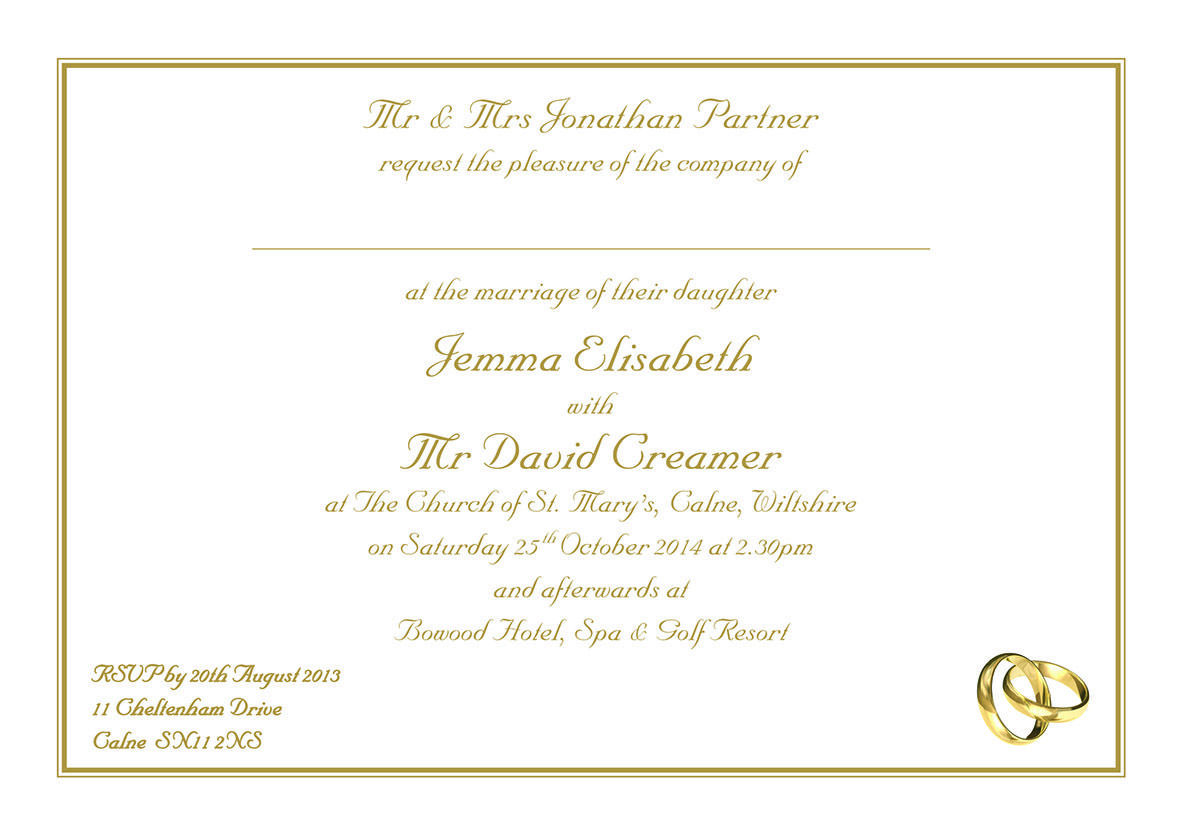 Day Invitations Print By Townsend
